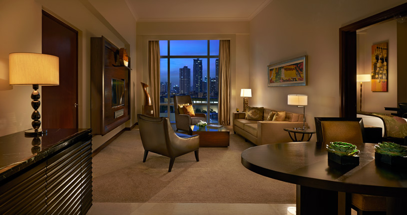 Living Area at Fairmont Makati