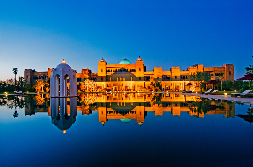 Taj Palace Marrakech Sunset Pool View