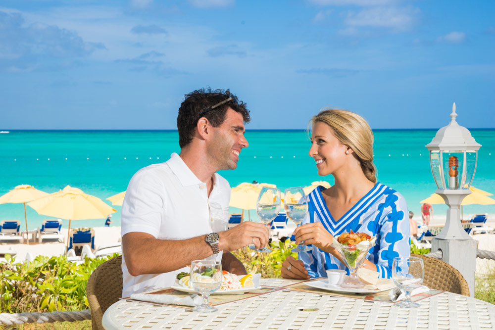 Dining by the Beach at The Alexandra Resort Turks and Caicos