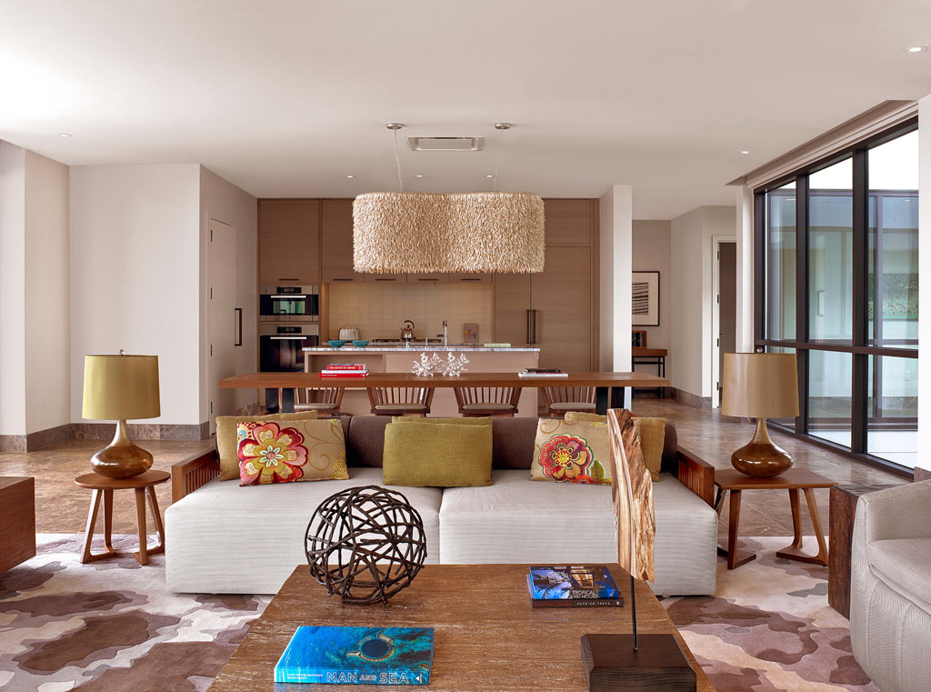 Villa Living Room at Andaz Maui at Wailea, Wailea, Hi