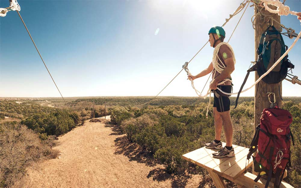 Zip Line Experience at Travaasa Austin
