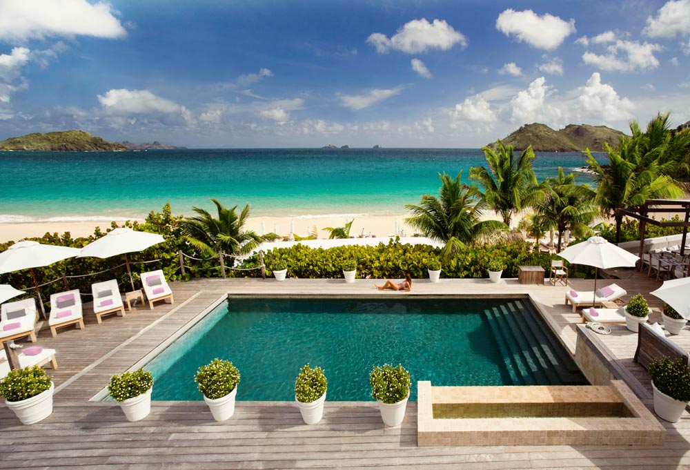 Main Swimming Pool at Cheval Blanc Saint-Barth, French West Indies