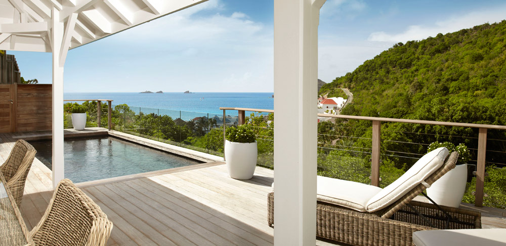 Hillside Bungalow Terrace at Cheval Blanc Saint-Barth, French West Indies