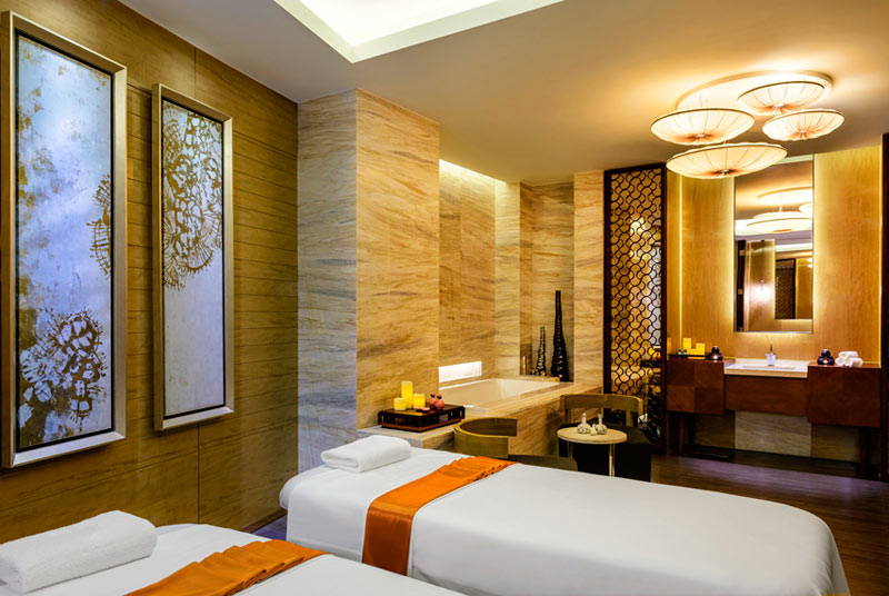 The Sheraton Huzhou Hot Spring Resorts Twin Spa Treatment Room