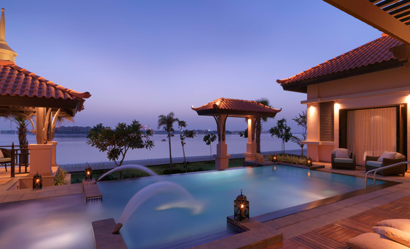 Anantara Dubai-Two Bed Beach Villa Pool By Night