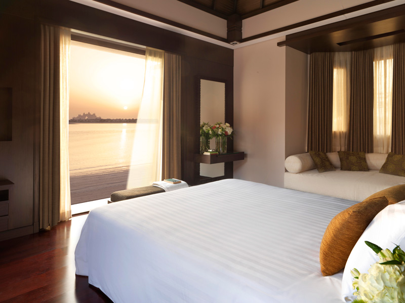 Anantara Dubai-Two Bed Beach Villa Bedroom Sunset