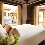 Two Bed Beach Villa Bedroom at Anatara Dubai The Palm