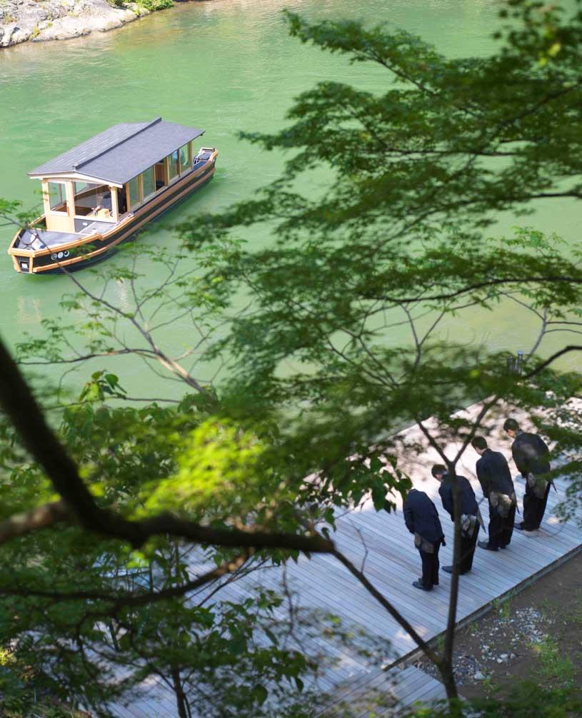 Boat Landing at Hoshinoya Kyoto