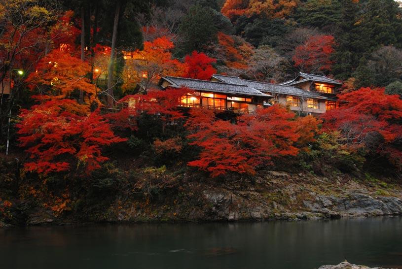 Villa Exterior at Hoshinoya Kyoto Hotel
