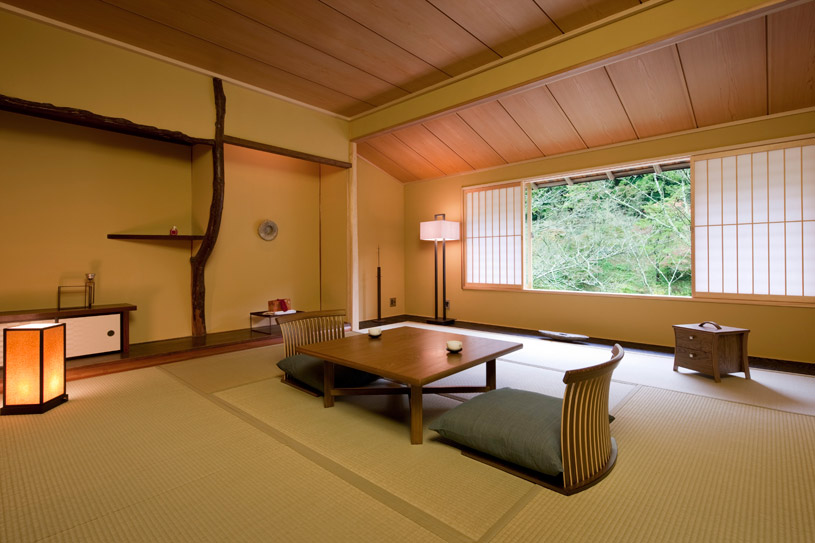 Sitting Area at Hoshinoya Kyoto Hotel