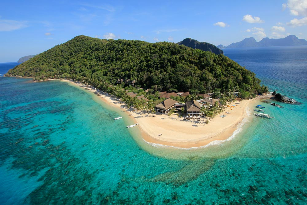 Aerial Island View at Pangulasian Island Resort