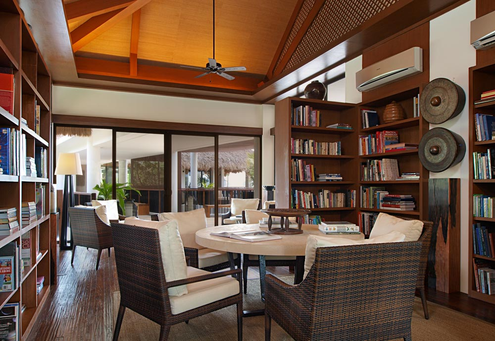 Library at Pangulasian Island Resort