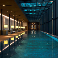 Indoor Pool with Comfortable Lounge at Chedi Andermatt