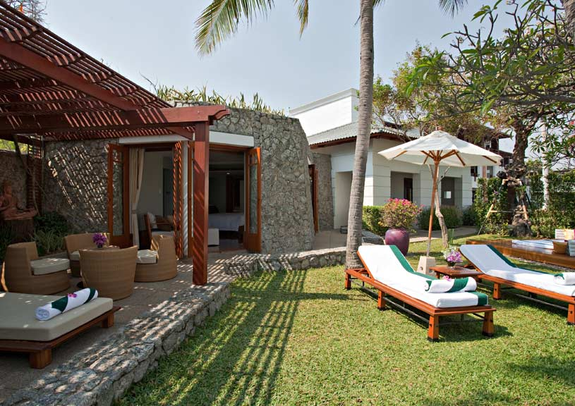 Outdoor area of The Leelawadee Suite at The Chiva Som Resort