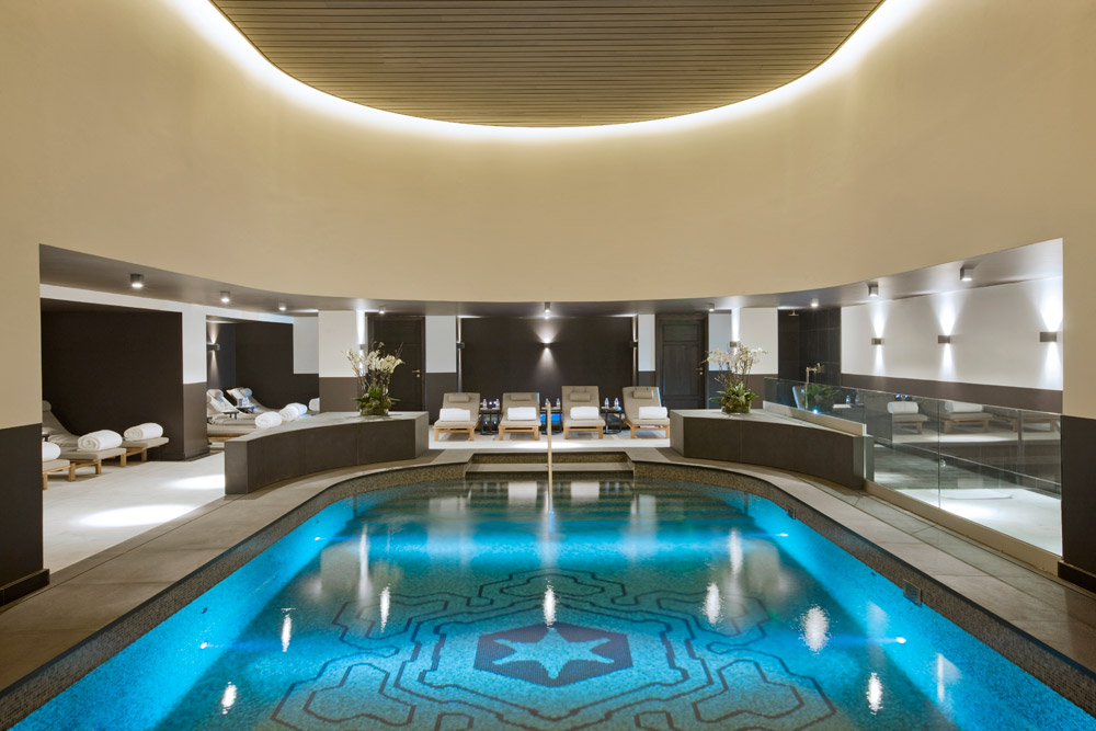 Indoor Pool at L'Apogee Courchevel, Courchevel, France