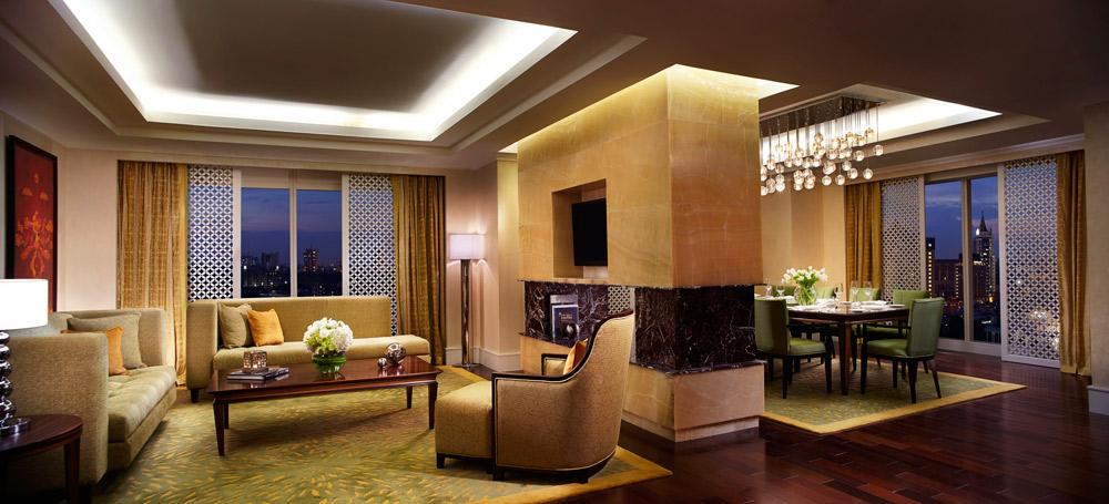 Suite Living Room at Ritz Carlton Bangalore