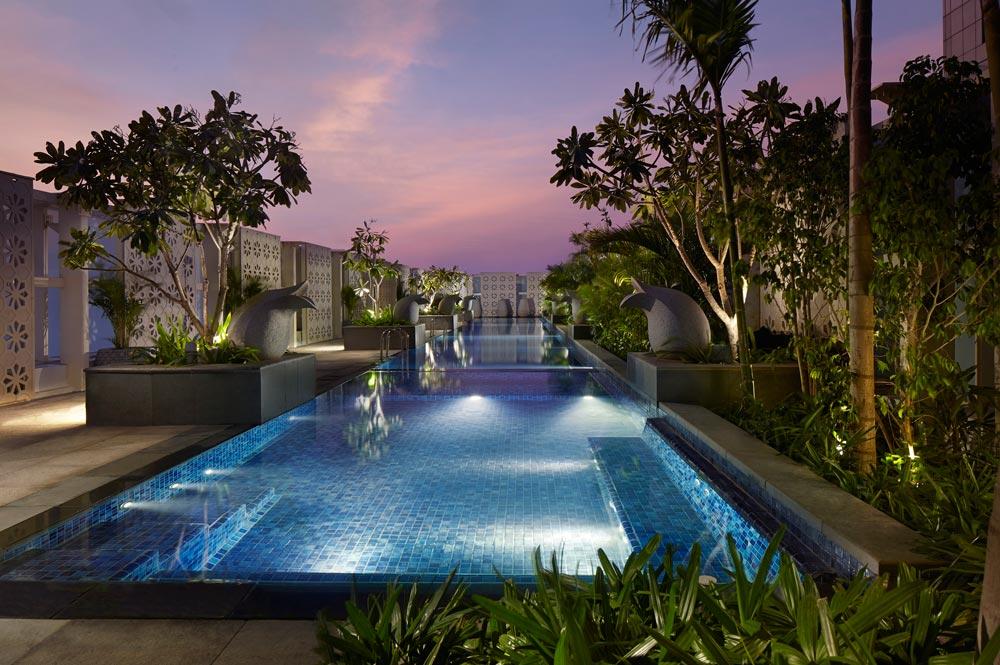 Pool at Ritz Carlton Bangalore