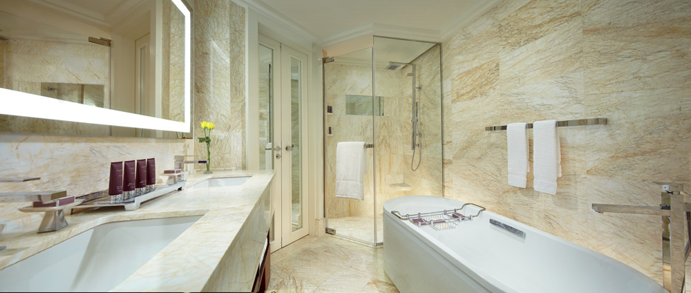 Bath at Ritz Carlton Bangalore