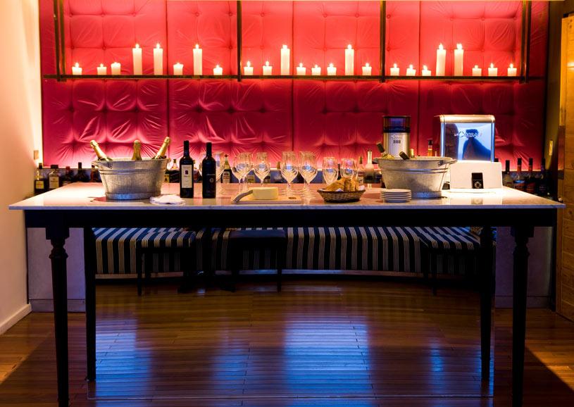 Bar Area at The Titilaka Hotel In Peru