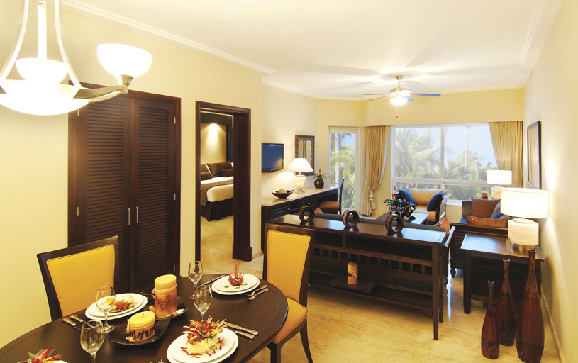 One Bedroom Master Suite Sitting and Dining Area at The Reserve at The Paradisus Punta Cana