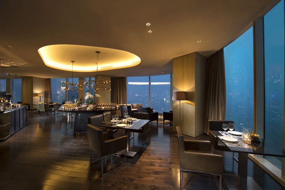 Exclusive Executive lounge at Conrad Beijing, China