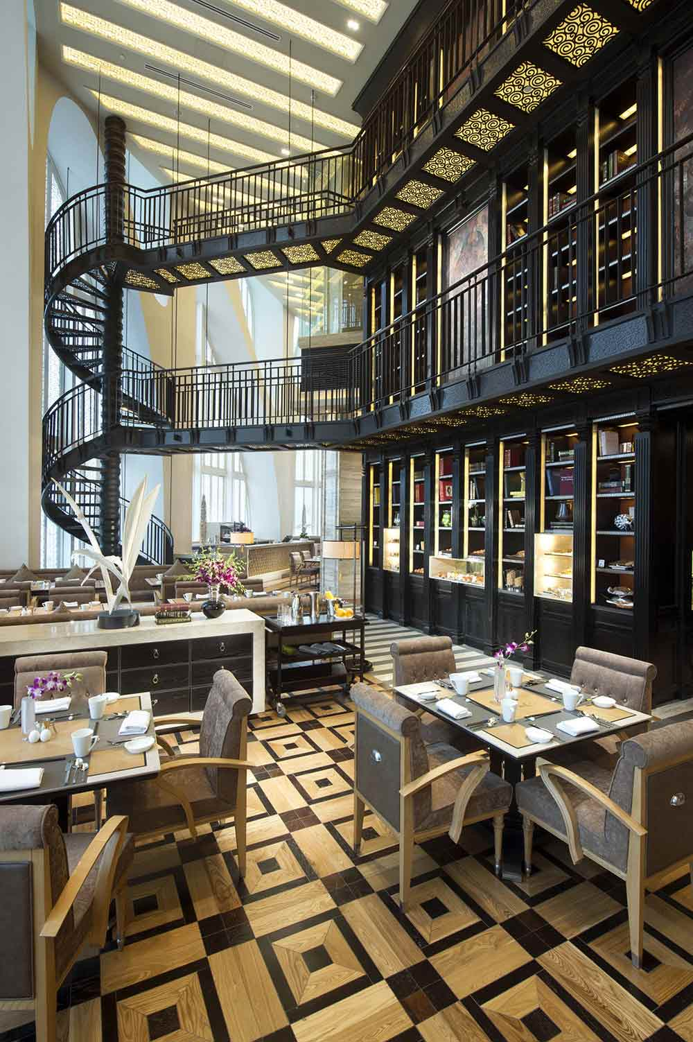 Food Library Chapter Restaurant choice at Conrad Beijing, China