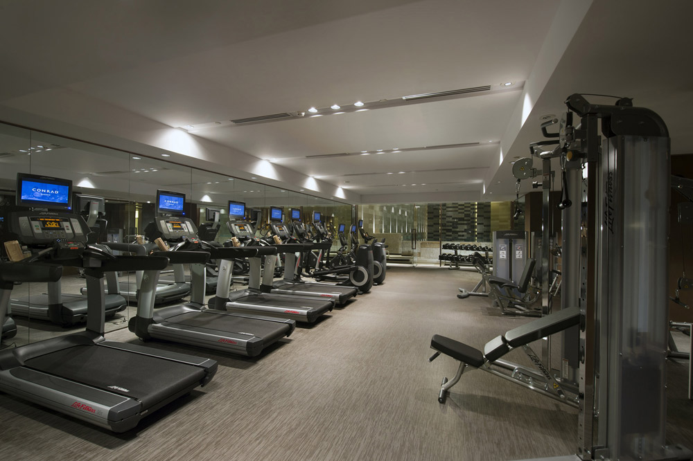 Fitness center located inside Conrad Beijing, China
