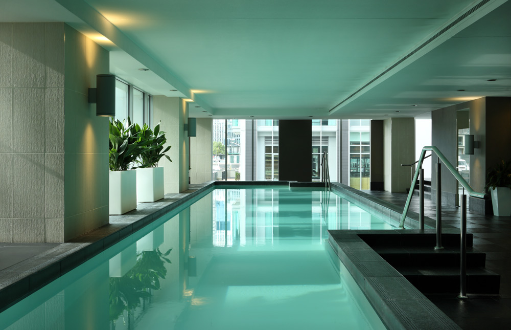 Indoor Lap Pool at Sofitel Auckland Viaduct HarbourNew Zealand