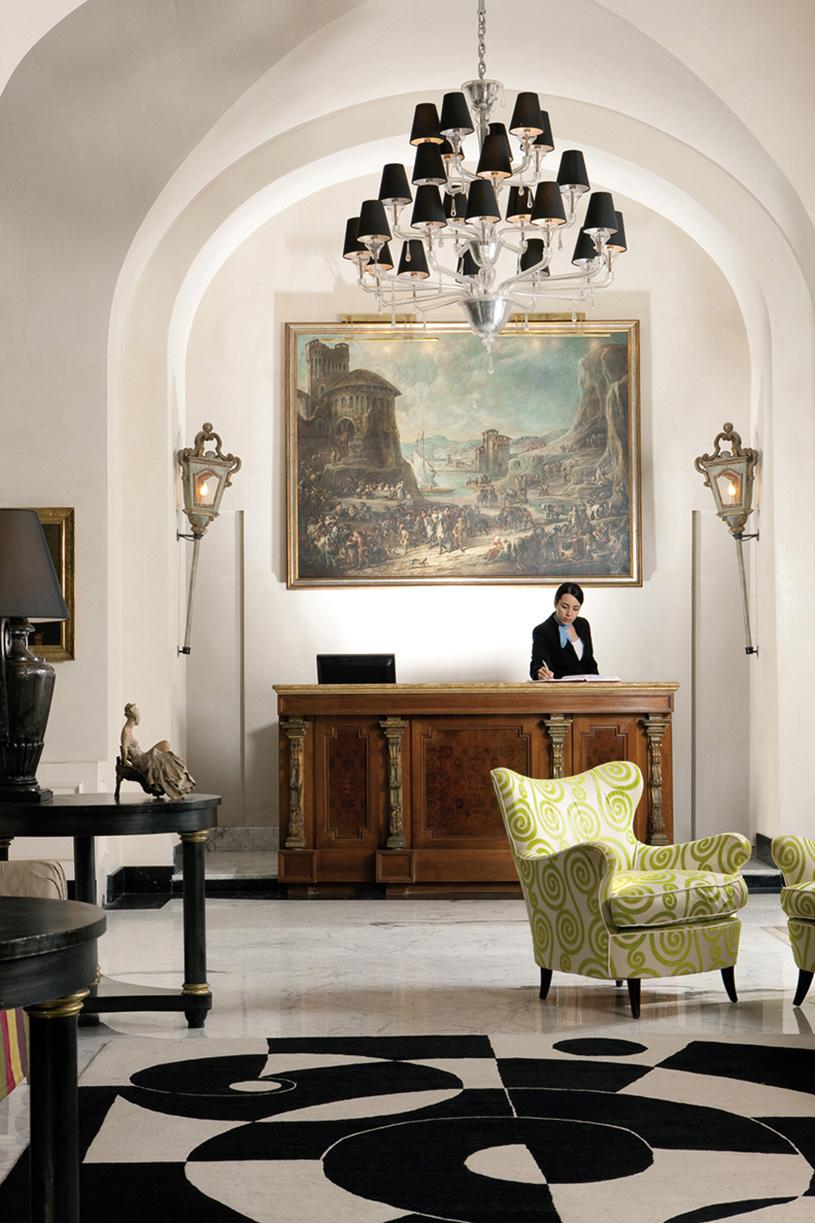 Hall of The Punta Tragara Hotel