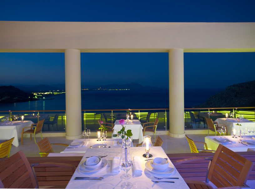 Five Senses Restaurant at The Lindos Blu Hotel