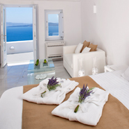 Guest Room at The Canaves Oia Hotel