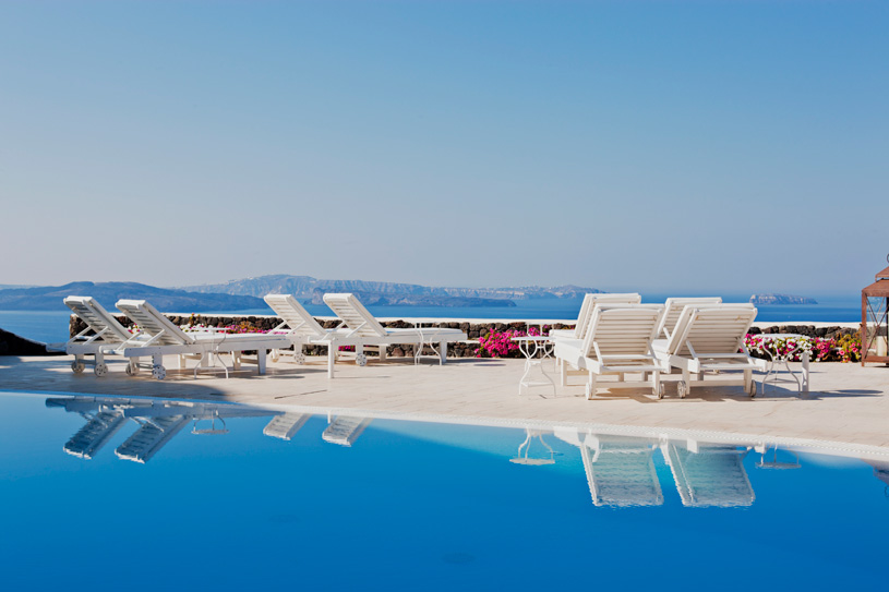 Pool Area at The Canaves Oia Hotel