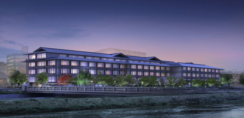 Exterior of The Ritz Carlton Kyoto