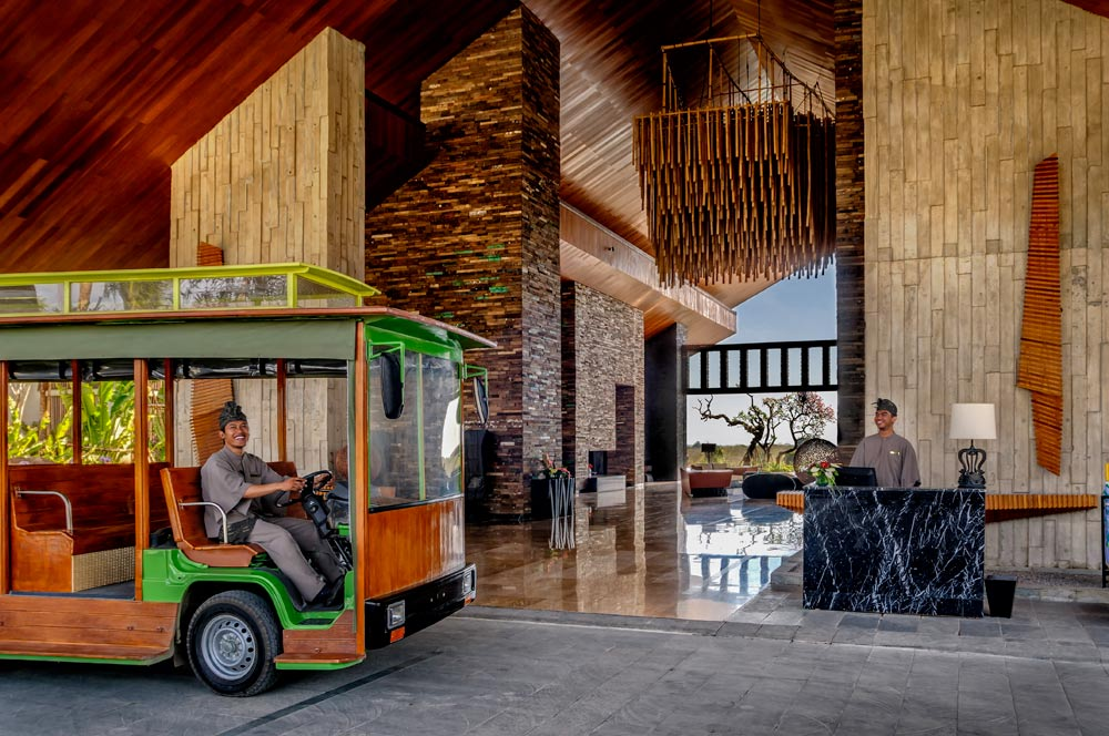 Tram Shuttle at RIMBA Jimbaran Bali, Indonesia