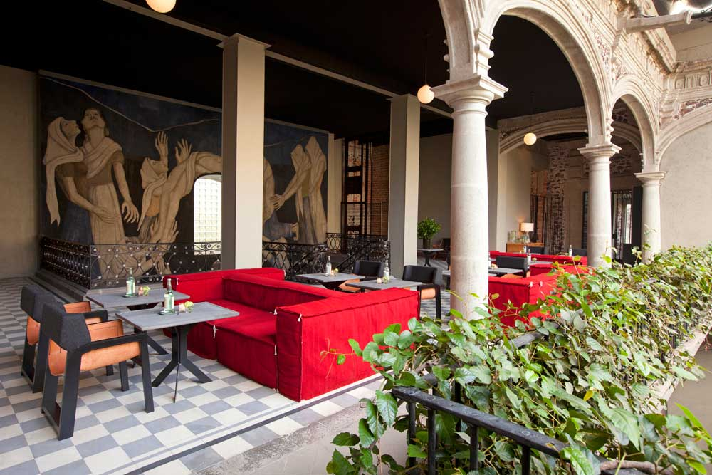 Breakfast Terrace and Lobby at Downtown MexicoMexico City