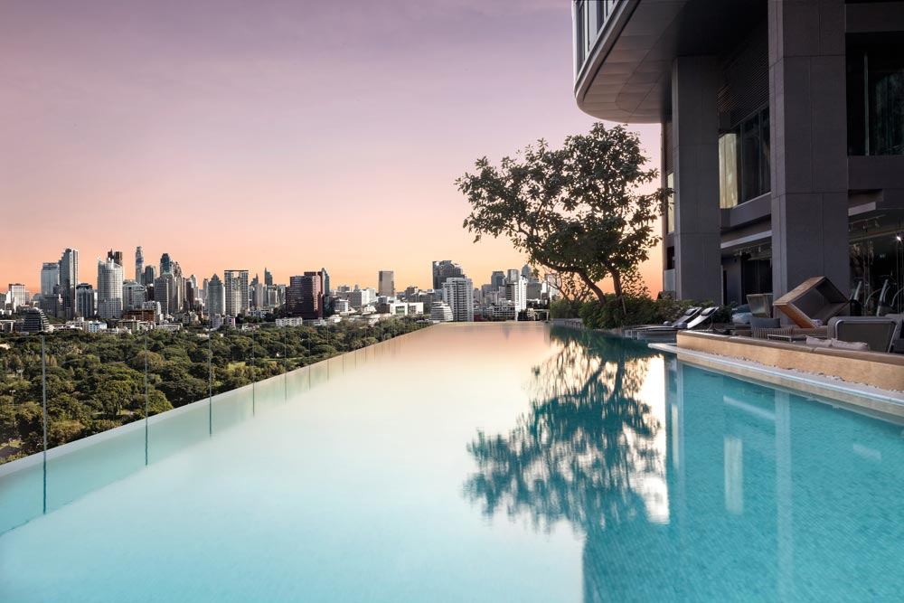 Infinity Pool at The Sofitel So Bangkok Hotel