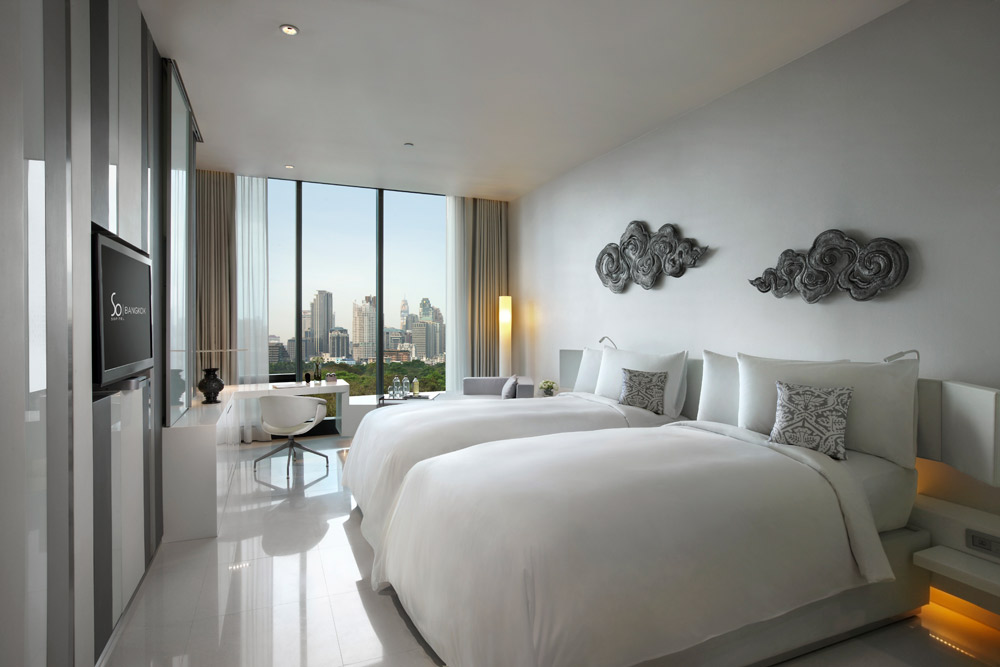 Metal Element Double Guest Room at The Sofitel So Bangkok Hotel