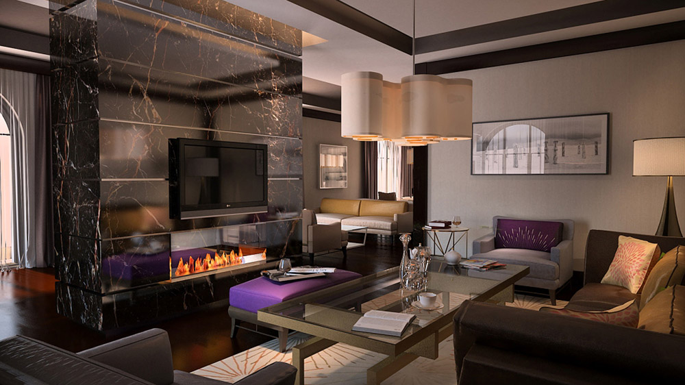 Suite Living Area at Solis Sochi Hotel and Suites