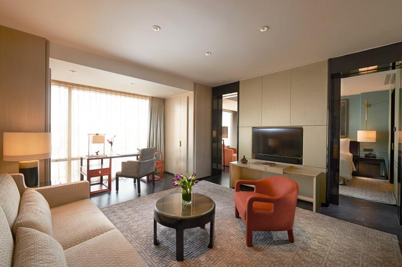 Sitting Area in Deluxe Suite at Waldorf Astoria Beijing