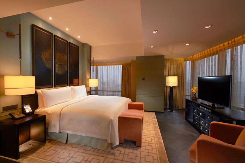 Bedroom of Premier Suite at Waldorf Astoria Beijing