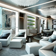 Presidential Suite Lounge at Melia Vienna