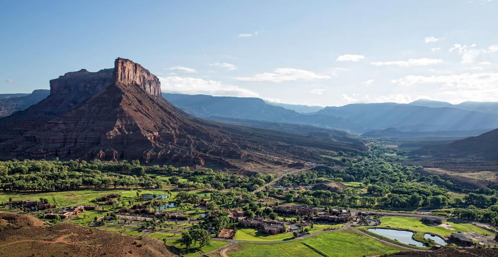 Aerial Panoramic View at Gateway Canyons Resort and Spa