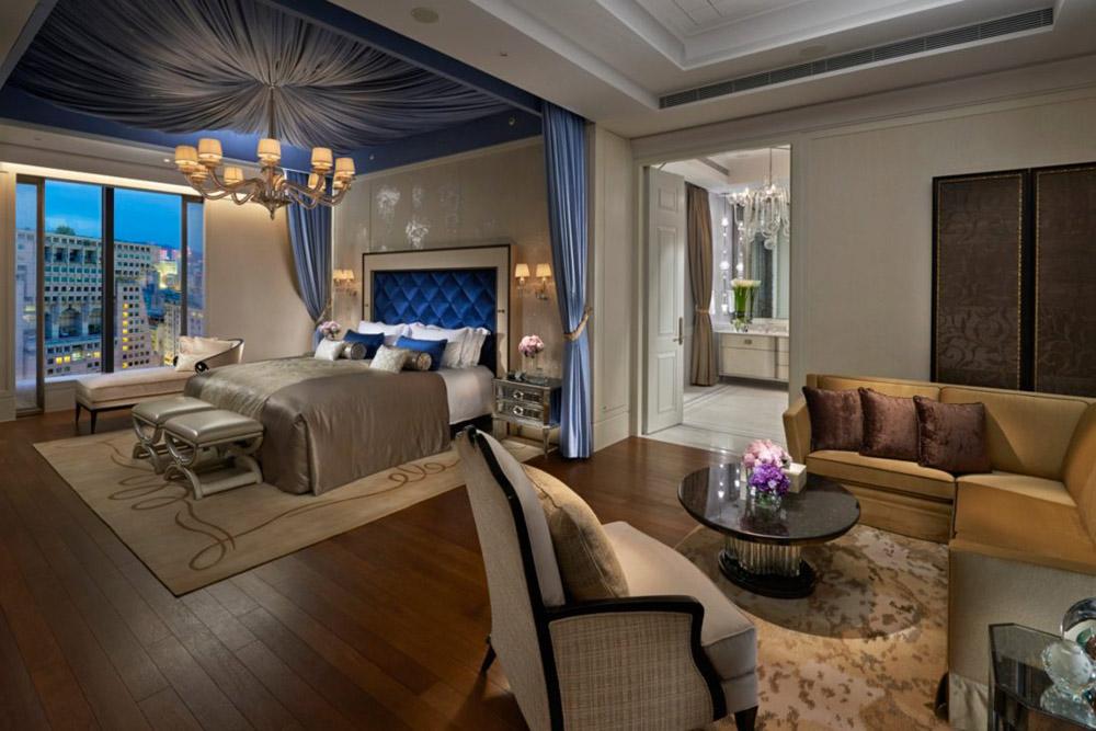 Presidential Suite Bedroom at Mandarin Oriental Taipei, Taiwan