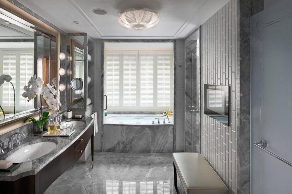 Premier Club Room Bath at Mandarin Oriental Taipei, Taiwan