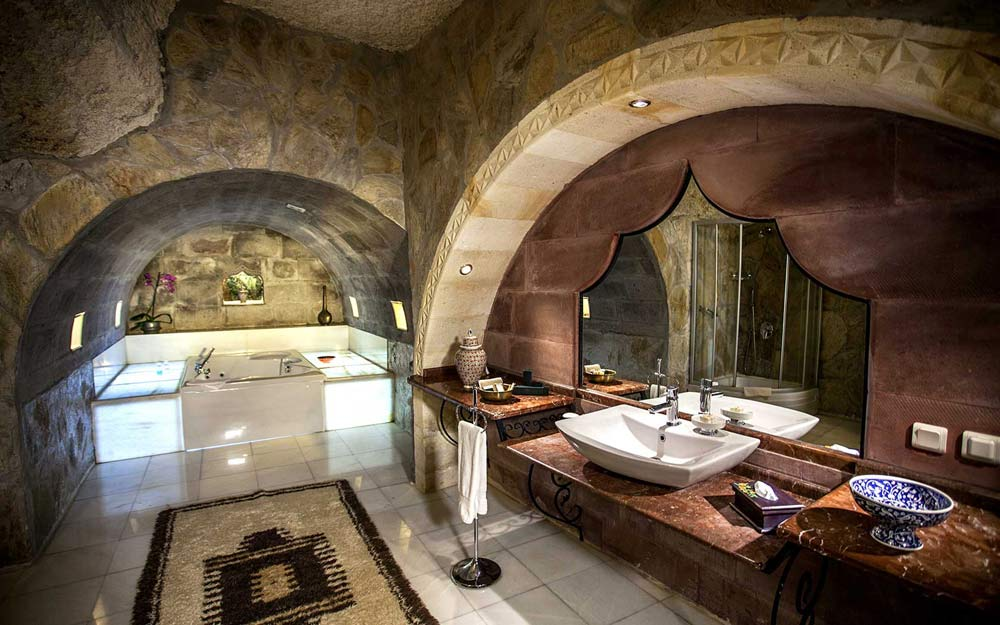 The Harem Cave Suite Bath at Museum Hotel Cappadocia