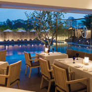 Grill by the pool at The Singapore Marriott Hotel