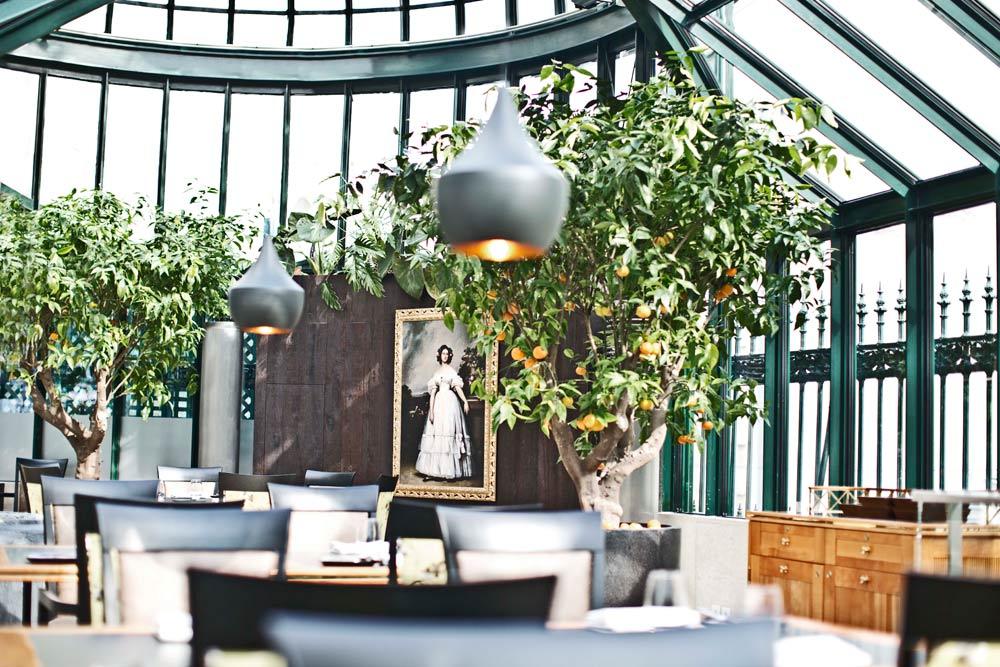 Clementine im Glashaus Restaurant Gemalde at Palais Coburg Residenz Vienna