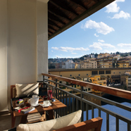 Terrace View at Portrait Firenze