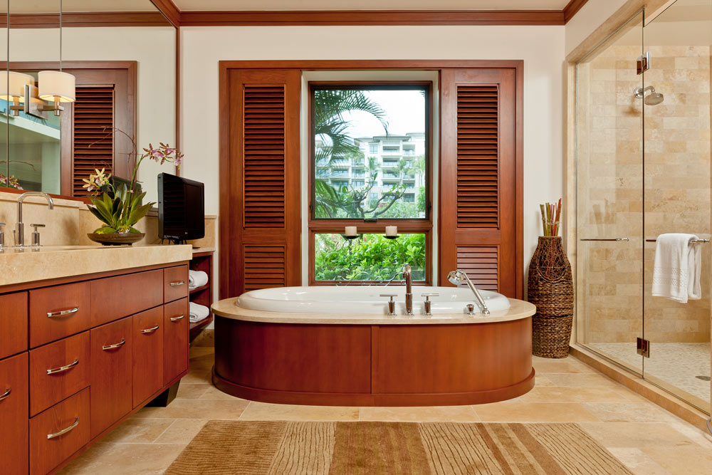 Bathroom at the Montage Kapalua Bay