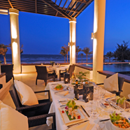 Terrace Dining at Princess DAn Nam Resort and SpaKe Ga BayVietnam